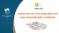 Những yêu cầu về sử dụng Tiếng Việt - Phép điệp và Phép đối